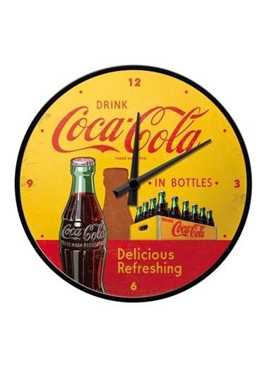 Nostalgic Art Coca Cola Bottles Duvar Saati Renkli